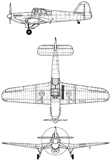 Plan 3 vues du Miles M.9 Master & M.19 Master II