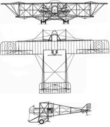 Plan 3 vues du Farman MF-11