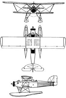 Plan 3 vues du Marinens F. MF-11
