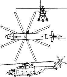 Plan 3 vues du Mil Mi-26  'Halo'