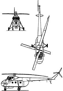 Plan 3 vues du Mil Mi-4  'Hound'