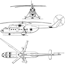 Plan 3 vues du Mil Mi-6  'Hook'
