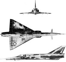 Plan 3 vues du Dassault Milan