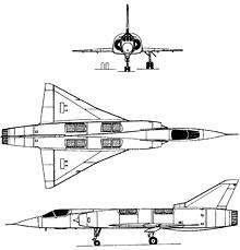 Plan 3 vues du Dassault  Mirage III V / Balzac V