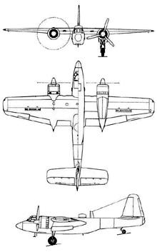 Plan 3 vues du Miles M.33 Monitor