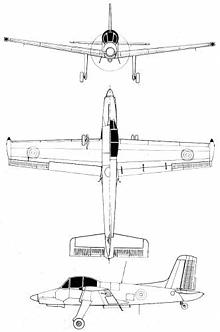 Plan 3 vues du Morane-Saulnier MS.1500 Epervier