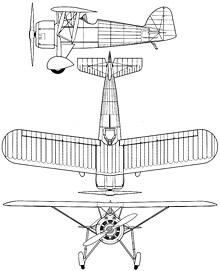 Plan 3 vues du Morane-Saulnier MS.225