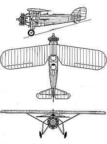 Plan 3 vues du Morane-Saulnier MS.230