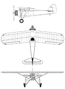 Plan 3 vues du Morane-Saulnier MS.315/MS.317