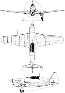 Plan 3 vues du Morane-Saulnier MS.406