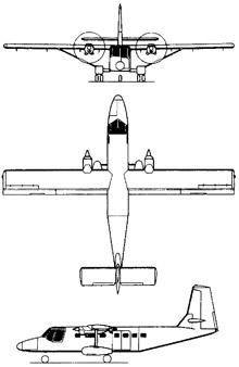 Plan 3 vues du GAF N-22/N-24 Nomad