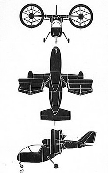 Plan 3 vues du Nord N.500 Cadet