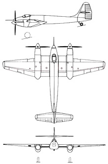 Plan 3 vues du FMA I.Ae. 30 Ñancú