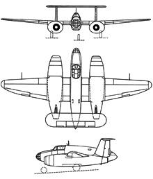 Plan 3 vues du SNCAC NC.1071