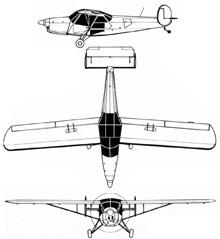 Plan 3 vues du SNCAC NC.856 Norvigie