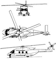 Plan 3 vues du NHIndustries NH-90 Caïman TTH/NFH