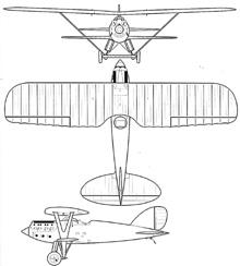 Plan 3 vues du Nieuport-Delage Ni-D.62