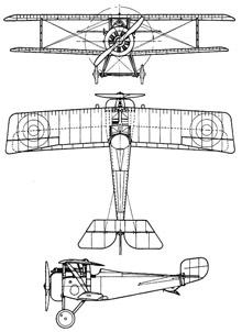 Plan 3 vues du Nieuport Nie.17 Super Bébé
