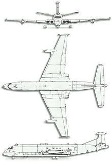 Plan 3 vues du BAe  Nimrod