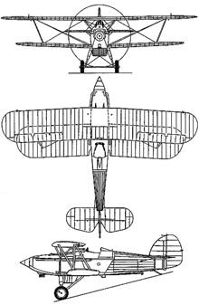 Plan 3 vues du Hawker  Nimrod
