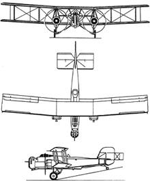 Plan 3 vues du Boulton Paul P.75 Overstrand
