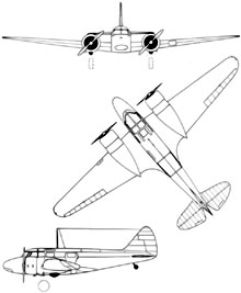 Plan 3 vues du Airspeed AS.10 Oxford