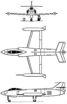Plan 3 vues du FFA P-16