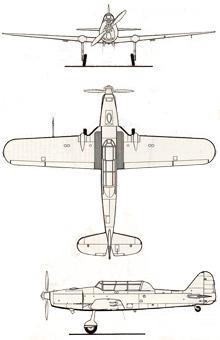 Plan 3 vues du Pilatus P-2