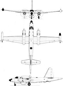 Plan 3 vues du Lockheed P2V Neptune