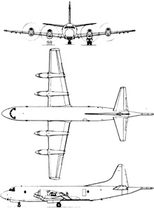 Plan 3 vues du Lockheed P-3 Orion