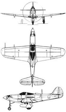 Plan 3 vues du Bell P-39 Airacobra
