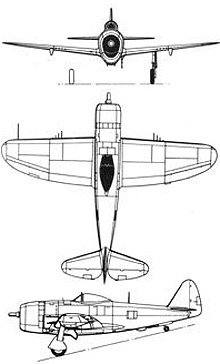 Plan 3 vues du Republic P-47 Thunderbolt