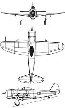 Plan 3 vues du Republic P-47 Thunderbolt