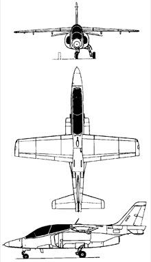 Plan 3 vues du FMA IA 63 Pampa