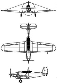 Plan 3 vues du Consolidated PB-2