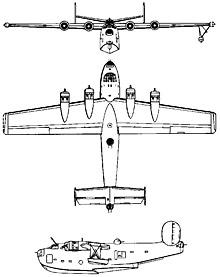Plan 3 vues du Consolidated PB2Y Coronado