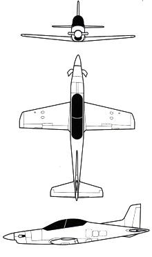 Plan 3 vues du Pilatus PC-21