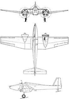 Plan 3 vues du Tomashevich LShBD Pegas