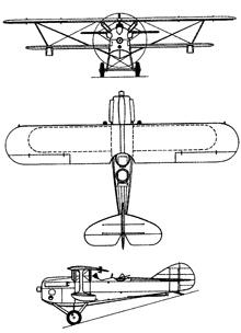 Plan 3 vues du Levasseur PL.5