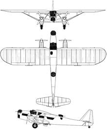 Plan 3 vues du Potez 540