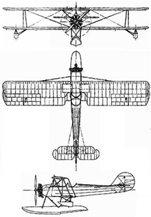 Plan 3 vues du Consolidated NY / PT-3 Huskie