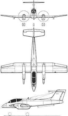 Plan 3 vues du FMA IA 58 Pucarà