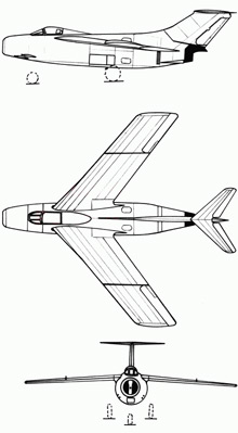 Plan 3 vues du FMA I.Ae. 33 Pulqui II