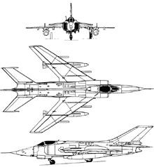 Plan 3 vues du Nanchang Q-5/A-5 Fantan