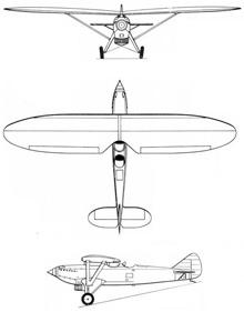 Plan 3 vues du Renard R.31