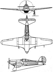 Plan 3 vues du Renard R.36