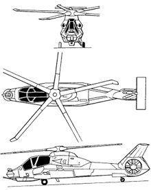 Plan 3 vues du Boeing-Sikorsky RAH-66 Comanche