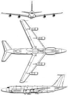 Plan 3 vues du Boeing RC-135 Rivet Joint