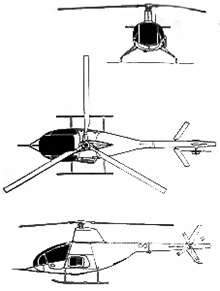Plan 3 vues du Citroën RE-2
