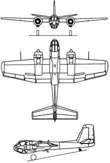 Plan 3 vues du SIPA S.1100